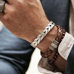 Mcllroy Vintage Bracelets Twisted Braiding Silver Stainless Steel Wires Cuff Bangles Bracelets Jewelry For Men Women bileklik Mens Gold Bracelets, Fashion Bracelets, Metal Bracelets, Men's Accessories, Leather Men, Mens Fashion, Luxury Jewelry, Diy Jewelry, Expensive Jewelry