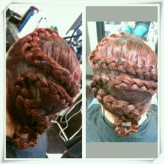 Crazy braid.  By Annmaries Hair On Madison.