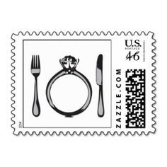 Wedding Postage Stamp | Eat, Drink & Be Married