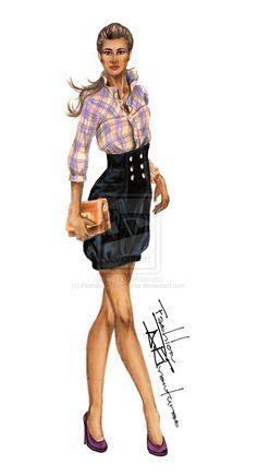 Business Casual Outfit Wendy's Lookbook by FashionARTventures.deviantart.com on @deviantART