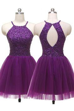 purple party dresses