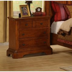 Pennsylvania Country Nightstand in Rich Honey Cherry - $475.99