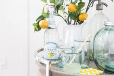 Styling a Summer Bar Cart and a Video