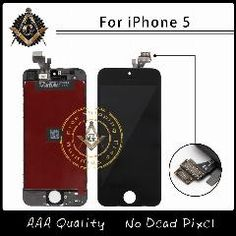 [ $21 OFF ] 10Pcs/lot Aaa Quality Lcd Screen Display Digitizer Assembly For Iphone 5 Lcd Display Black/white All Parts