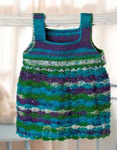 vestido de verano ganchillo conchas de correas