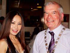 Ayi Jihu and the Mayor of Cambridge at Charity football event Cambridge, Charity, Football, Soccer, Futbol, American Football, Soccer Ball