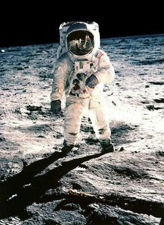 "Neil Armstrong (1930-1912) The first man to walk on the moon in 1969.  With his colleagues, Michael Collins and Buzz Aldrin in Apollo 11, Armstrong landed on the Moon's surface and made the statement that would be remembered for generations to come, ""That's one small step for a man, one giant leap for mankind"""
