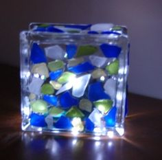 Light with sea glass