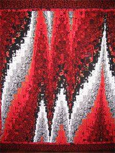 Asian Bargello by Quilteralice, via Flickr