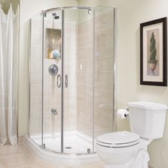 Possible 3 4 bath for downstairs  small corner shower stall is like the oneMadrid 48 inch x 36 inch Asymmetric Right opening Corner Shower  . Small Corner Shower Enclosures. Home Design Ideas