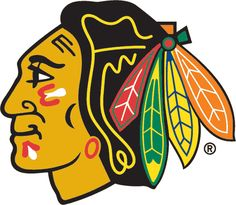 Chicago Blackhawks Primary Logo (1965) - A native american head with a feathered head dress