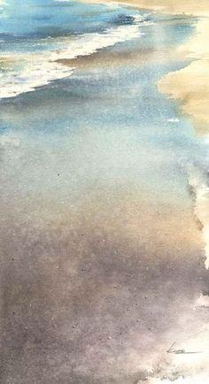 8月の海, Kanta Harusaki, watercolor, 2012
