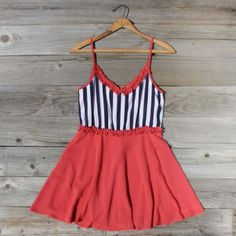 Awning Stripe Dress in Red, Sweet Women's Country Clothing Country Outfits, Country Dresses, Fashion Gallery, Striped Dress, Pretty Outfits, Casual Dresses, Summer Outfits, Dress Up, Style Inspiration