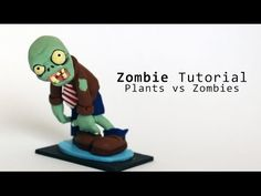 Zombie Figurine Polymer Clay Tutorial Plants vs Zombies - YouTube