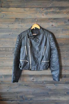 Jacket Black Leather Echt Leder Cafe L Cafe Racer Motorcycle, Motorcycle Jacket, Bomber Jacket, Cafe Racer Clothing, Biker Style, Man Style, Motorbike Leathers, Riding Jacket, Vintage Black