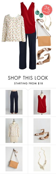 """""""Sew It Would Seem Cardigan"""" by modcloth ❤ liked on Polyvore featuring Seychelles"""