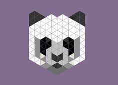 trianglez Panda, Abstract, Artwork, Summary, Work Of Art, Auguste Rodin Artwork, Pandas, Artworks, Illustrators