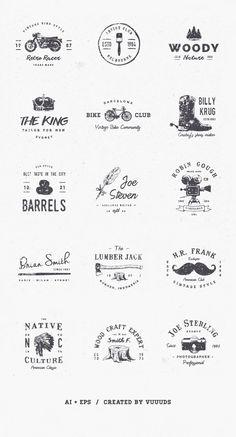New Vintage Logo Inspiration Graphics Ideas Great Logo Design, Graphisches Design, Vintage Logo Design, Logo Branding, Branding Design, Brand Identity, Logos Online, Inspiration Logo Design, Logo Simple
