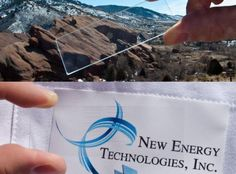 NREL and New Energy Technologies, Inc. create virtually 'invisible' conductive wiring system to collect and transport electricity on glass windows.