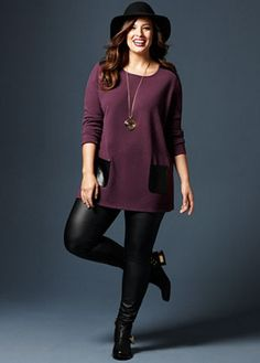 2016 Fall & 2017 Winter Fashion Trends for Curvy and Plus Size Women Mode Outfits, Trendy Outfits, Plus Size Outfits, Spring Outfits, Plus Size Sweater Dress, Plus Size Sweaters, Curvy Fashion, Trendy Fashion, Plus Size Fashion