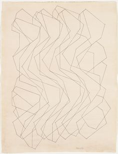 Onda I, 1981. Pablo Palazuelo. Lápiz sobre papel Line Drawing, Geometry, Sculpture, Drawings, Inspiration, Ranch, Madrid, Aesthetics, Patterns