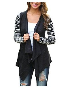 99968bc56a Women s Cardigans - AuntTaylor Womens Solid High Low Long Sleeve Boho Open  Front Blouses Cardigans     For more information