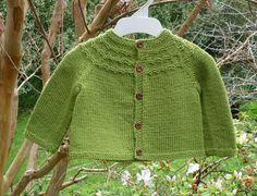 Ravelry: Seamless Yoked Baby Sweater pattern by Carole Barenys Baby Cardigan Knitting Pattern Free, Baby Sweater Patterns, Baby Knitting Patterns, Baby Patterns, Cardigan Pattern, Knit Cardigan, Knitting For Kids, Crochet For Kids, Crochet Baby