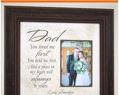 Wedding Day Gifts for Father Dad from Bride and Groom Thank You Gift For Parents, Wedding Gifts For Parents, Mother Of The Groom Gifts, Wedding Thank You Gifts, Mother In Law Gifts, Father Of The Bride, Bride Gifts, Gifts For Dad, Custom Photo Frames