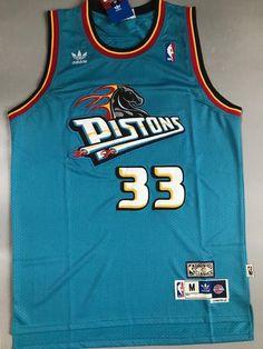 Men 33 Grant Hill Jersey Green Detroit Pistons Throwback Swingman Fanatics 9a53e3781