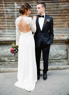 Parisian Industrial Loft Wedding Inspiration Read more - http://www.stylemepretty.com/2014/03/20/parisian-industrial-loft-wedding-inspiration/