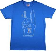 Philadelphia 76ers Shirt by Junk Food  This officially licensed NBA shirt by Junk Food features print of a basketball along with the Philadelphia 76ers team logo and year the team was established.    Fabric Details        Color: Blueberry      50% cotton / 50% polyester    Our Price: $25.95