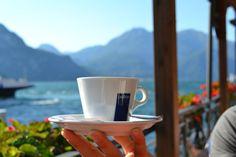 Lavazza Cappuccino on Lake Como, Italy