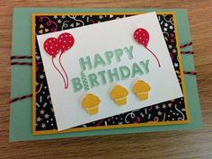 Happy Birthdaykaart - Het Knutsellab - Stampin Up #stampinup #crafts #knutselen #stempelen