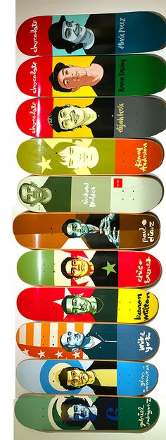 Chocolate Skateboards Team Decks #evanhecox