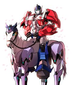 I...I don't think I can respect Optimus anymore...a little more color and he'll be riding a freakin' my little pony!