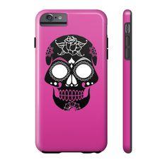 Pink Sugar Skull Phone Case