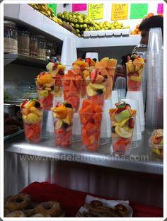 Vasitos con fruta! #mercado #México #Qro