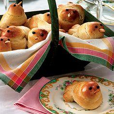 Recipe for Easter Chicks Rolls for Brunch