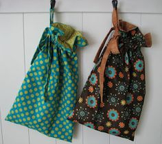 Quick and easy drawstring bag