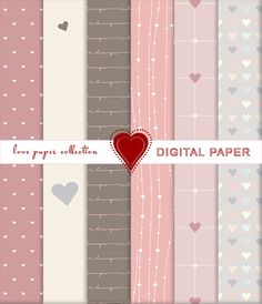 Love Paper collection - set di carta da regalo e per scrapbooking