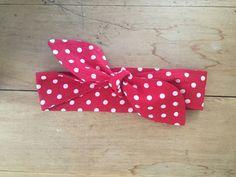 Polka Dot Headband Rosie the Riveter Red or Black Tie by KYEbags