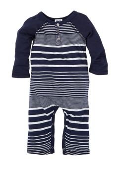 Baseball Henley Playsuit (Baby Boys)