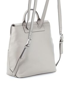 Tory Burch Thea Mini Leather Backpack, French Gray