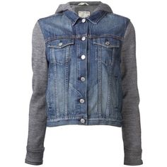 Rag & Bone hooded jean jacket ($270) ❤ liked on Polyvore featuring outerwear, jackets, tops, coats, denim jacket, long hooded jacket, blue denim jacket, long blue jacket and rag bone jacket