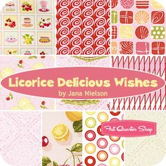 Licorice Delicious Wishes Fat Quarter Bundle Jana Nielson of Izzy & Ivy for Henry Glass Fabrics