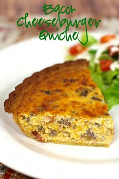 Bacon Cheeseburger Quiche - hamburger, bacon and cheese quiche - can make ahead of time and freeze for a quick meal later.