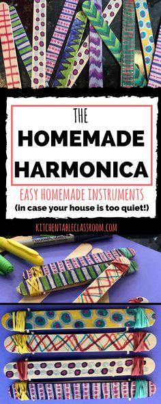 55 ideas music crafts for kids art projects homemade instruments Preschool Music, Music Activities, Teaching Music, Preschool Activities, Easy Art Projects, Projects For Kids, Crafts For Kids, Vbs Crafts, Class Projects