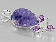 rhodochrosite pierres pr/écieuses Argent sterling 925/Lovely Pendentif 3.41/GMS