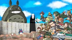 Miyazaki, studio ghibli, and shingeki no kyojin image Vincent Valentine, Pikachu, Pokemon, Ghibli Movies, Howls Moving Castle, Blue Exorcist, Hayao Miyazaki, Manga, Looks Cool