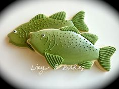 Fish Cookies~ By Lizy B Bakes, green, Fishing Cookies! Fish Cookies, Man Cookies, Iced Cookies, Cut Out Cookies, Cute Cookies, Royal Icing Cookies, No Bake Cookies, Cupcake Cookies, Sugar Cookies